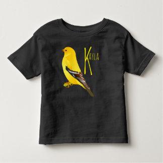 Goldfinch Bird Toddler Fine Jersey Black T-Shirt