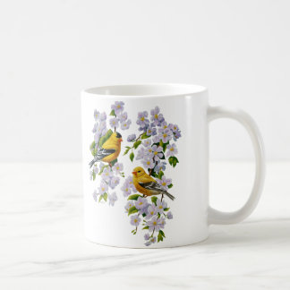 Goldfinch Birds & Flowers U-Pick Background Color Coffee Mug
