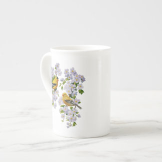 Goldfinch Birds & Flowers U-Pick Background Color Tea Cup