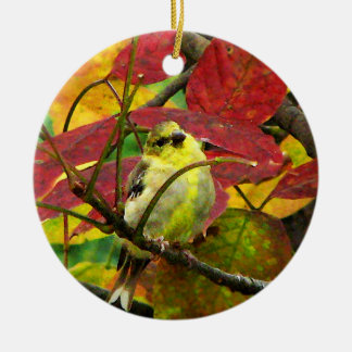 Goldfinch Christmas Ornament
