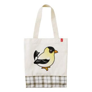 Goldfinch del americano de Birdorable Bolsa Tote Zazzle HEART