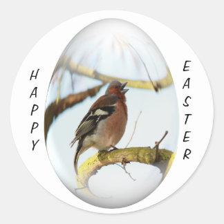 goldfinch del canto del huevo de Pascua Pegatinas Redondas