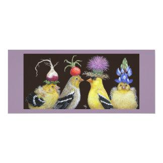 goldfinch family flat card custom announcement