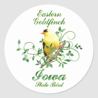 Goldfinch Iowa State Bird Stickers