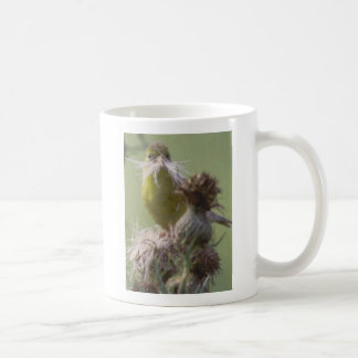 Goldfinch moustache classic white coffee mug