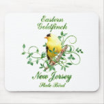 Goldfinch New Jersey State Bird Mouse Pad