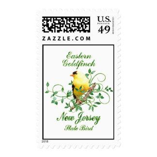 Goldfinch New Jersey State Bird Stamp