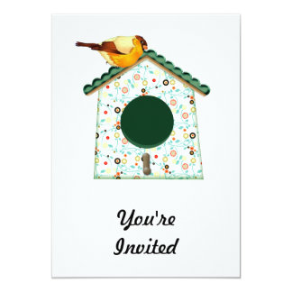 Goldfinch on Flower Calico House Card