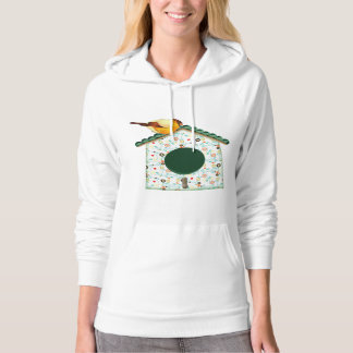 Goldfinch on Flower Calico House Hoodie