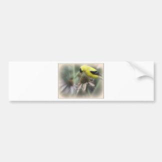 Goldfinch on Thistle Car Bumper Sticker