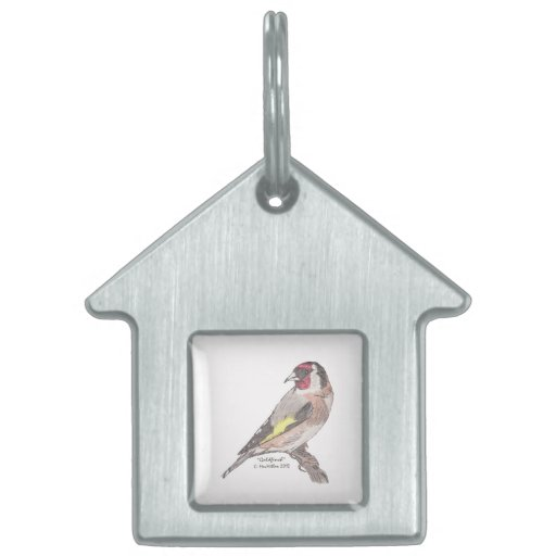 Goldfinch Pet Tag