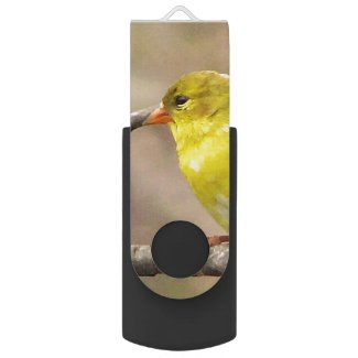 Goldfinch Swivel USB 2.0 Flash Drive