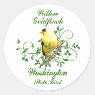 Goldfinch Washington State Bird Classic Round Sticker