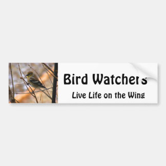 Goldfinch Watercolor Bumper Sticker