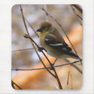 Goldfinch Watercolor Mouse Pad