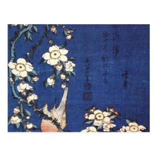 Goldfinch y cerezo, c.1834 por Katsushika H Tarjetas Postales
