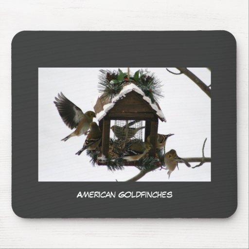 Goldfinches americanos alfombrilla de raton