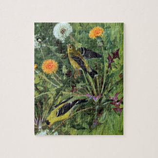 Goldfinches and Dandelions Jigsaw Puzzles