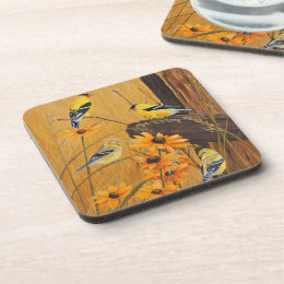 Goldfinches Beverage Coaster
