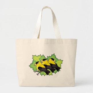 goldfinches bolsa de tela grande