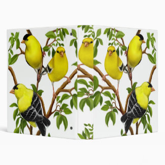Goldfinches in Tree Branches Avery Binder