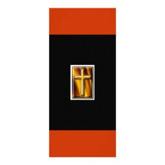 Goldfirecross Bookmarker Rack Card