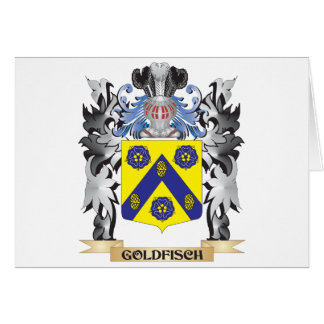 Goldfisch Coat of Arms - Family Crest Greeting Card