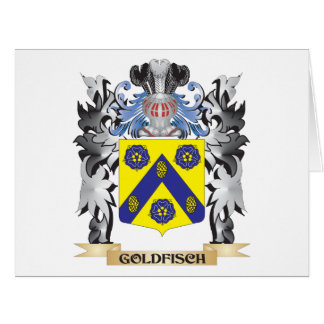 Goldfisch Coat of Arms - Family Crest Large Greeting Card