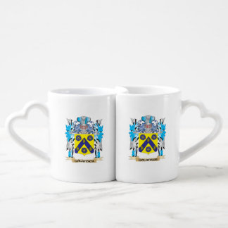 Goldfisch Coat of Arms - Family Crest Couples' Coffee Mug Set
