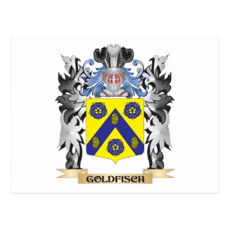 Goldfisch Coat of Arms - Family Crest Postcard