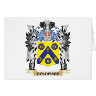Goldfisch Coat of Arms - Family Crest Stationery Note Card