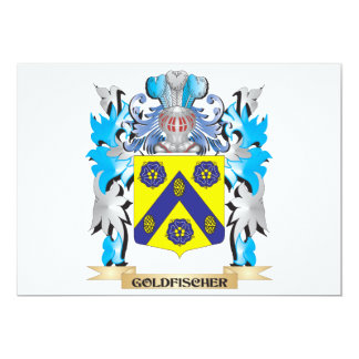 Goldfischer Coat of Arms - Family Crest 5x7 Paper Invitation Card