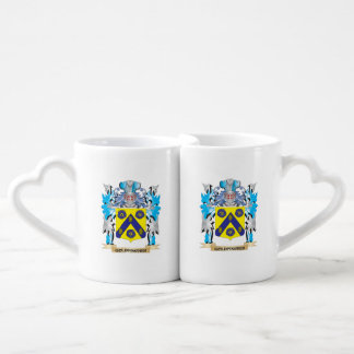 Goldfischer Coat of Arms - Family Crest Couples' Coffee Mug Set