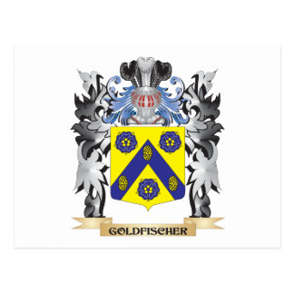 Goldfischer Coat of Arms - Family Crest Postcard