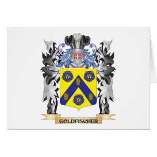 Goldfischer Coat of Arms - Family Crest Stationery Note Card