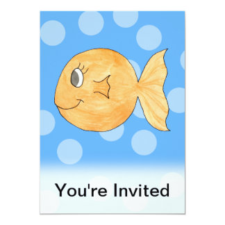 Goldfish. 5x7 Paper Invitation Card