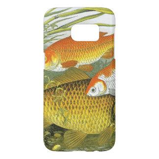 Goldfish acuático Koi, pescado marino del vintage Funda Samsung Galaxy S7
