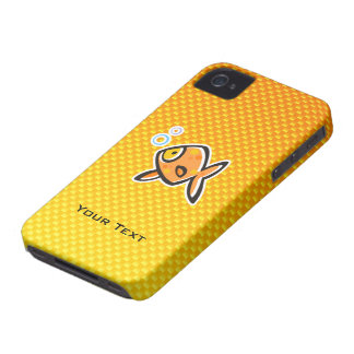 Goldfish amarillo-naranja iPhone 4 carcasas