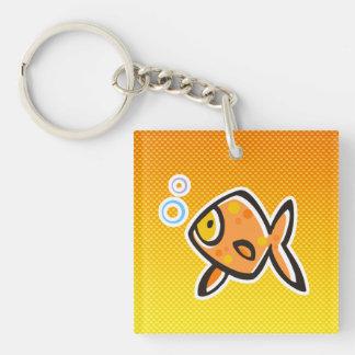 Goldfish amarillo-naranja llaveros