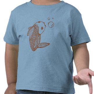 Goldfish anaranjado camiseta
