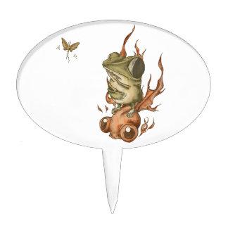 Goldfish and bean frog No.001 Cake Pick