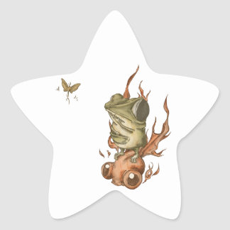 Goldfish and bean frog No.001 Star Sticker