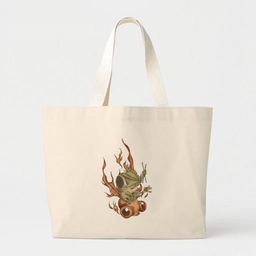 Goldfish and bean frog No.002 Canvas Bags