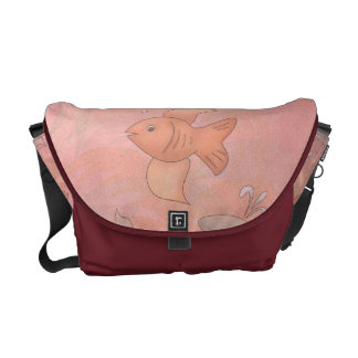Goldfish And Dolphins Messenger Bag