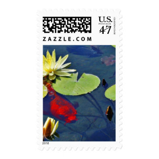 Goldfish Animal Postage Stamp