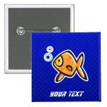 Goldfish azul pin