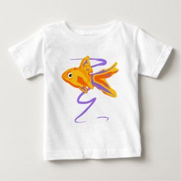Beach Themed Goldfish Baby T-Shirt