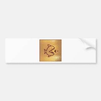 Goldfish Bigfish Smallfish Bumper Sticker