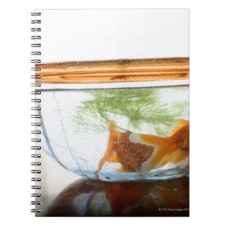 Goldfish bowl spiral notebooks