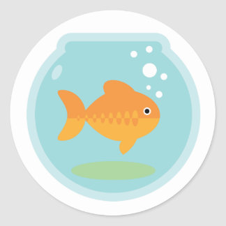 Goldfish Bowl Classic Round Sticker